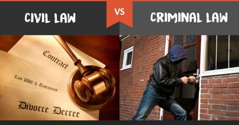 The Difference Between Criminal Law and Civil Law